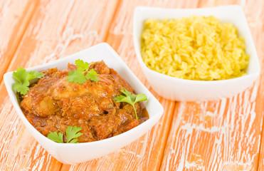 Quwarmah Al Dajaj - Kuwaiti curried chicken with saffron rice