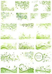 Set of spring green design