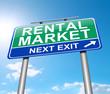 Rental market concept.