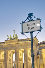 The Pariser Platz at Berlin, Germany