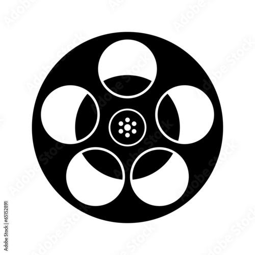 Film Icons Black And White Black And White Film Reel Icon