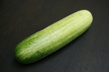 Cucumber isolated on black background