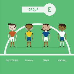 football players group E