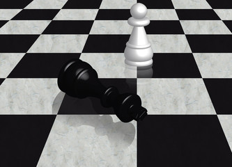 Scacchi: Sconfitta del re