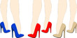 Belle gambe di donna in tacchi vertiginosi