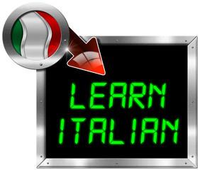 Learn Italian - Metal Billboard