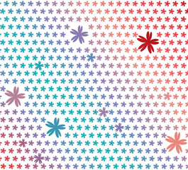 Colorful floral background, vector