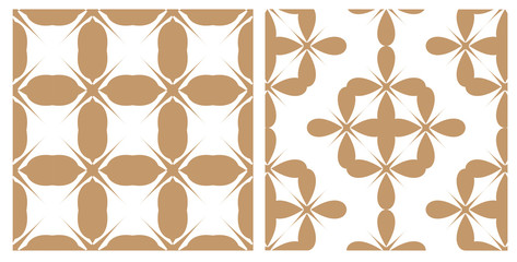 Two retro patterns, vector
