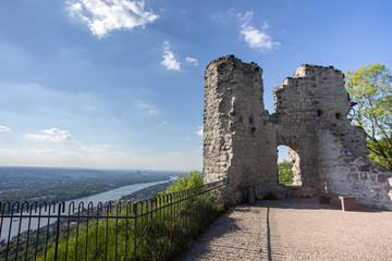 castle ruin drachenfels in koenigswinter gemany
