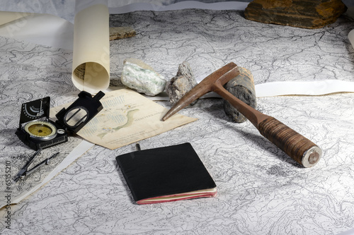 canvas print picture Geological expedition