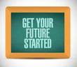 get your future started message illustration