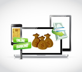 online banking technology business concept