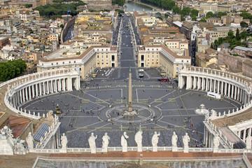 Piazza San Pietro vista dalla Cupola della Basilica