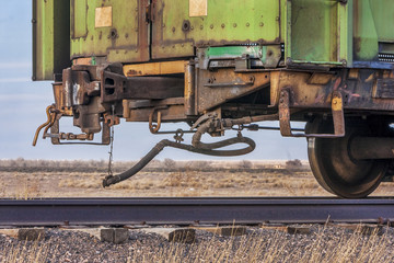 end of train on a sidetrack