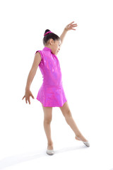 latin cute young little girl in dancing and ballet practice