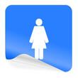 female blue sticker icon