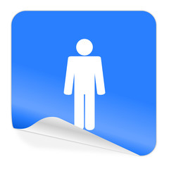 male blue sticker icon
