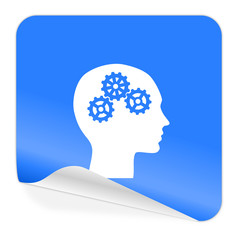 head blue sticker icon