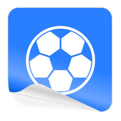 soccer blue sticker icon