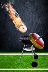 Fussball und grillen
