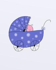 Bebè in carrozzina