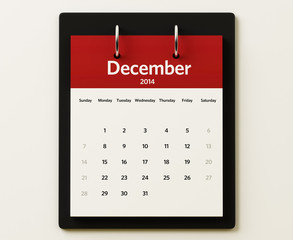 2014 December Calendar Planning