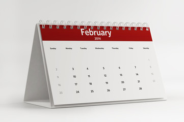 2014 February Calendar Planning