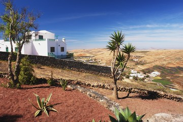View from main road to valley Teguise, Lanzarote