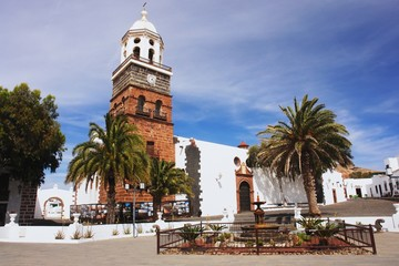View of the church in the Teguise, Lanzarote