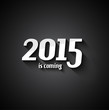 Modern Style 2015 New Year is coming background