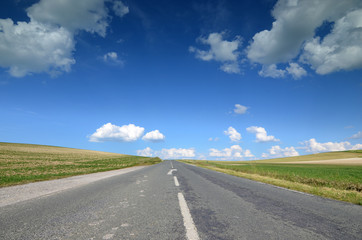 route et ciel