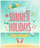 Summer Holidays poster. Vector illustration. - 65160072