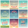 Travel set - labels and emblems. - 65160237