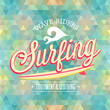 Surfing poster. Vector illustration.