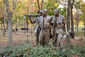 USA - Washington - Three Soldiers statue