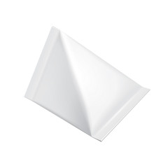 Tetrahedron Food Milk Carton Packages Blank White
