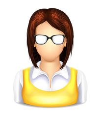 User Woman with Glasses Icon