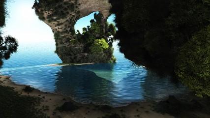 de la grotte vers la mer