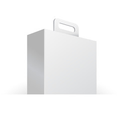 Carton Or Plastic White Blank Package Box With Handle