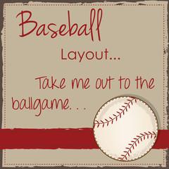 Vintage baseball layout