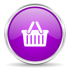 cart pink glossy icon