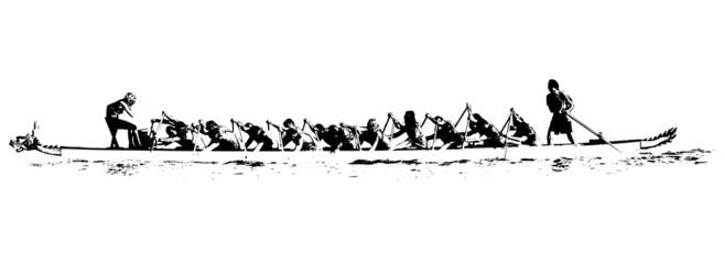 dragon boat illustration