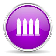 ammunition pink glossy icon