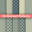 10 Abstract vintage vector seamless patterns (tiling)