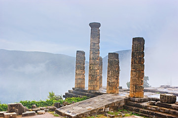 Columns in the fog