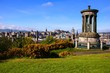 View over the historic center of Edinburgh Scotland