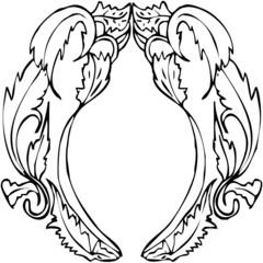 forme rétro arabesque nue