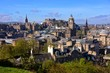 View over the historic center of Edinburgh Scotland