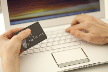 shopping at internet with credit card