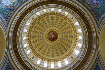 Capitol building interior in Madison, Wisconsin